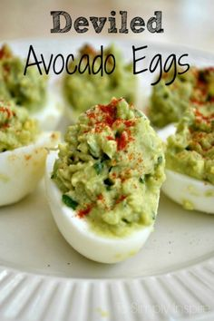 Deviled Avocado Eggs are an amazing healthy alternative to traditional deviled eggs.