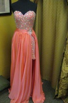Sweatheart neck prom dress,strapless prom dress,sexy prom dress,chiffion prom dress,beautiful beading prom dress,elegant wowen dress,party dress,evening dress,dress for teens L634