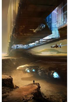 concept ships: Sparth concept ship art