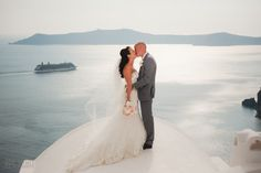 Rachel and Jonny's gorgeous Dana Villas wedding in Santorini by The Bridal Consultant
