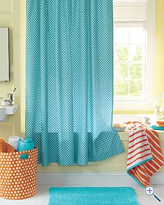 Kids Bathroom Colors Yellow Green Paint Turquoise Shower Curtain And Red Or