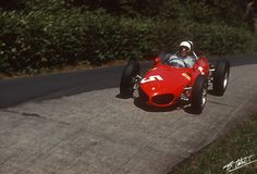 "Phil Hill in the Ferrari 156 ""Sharknose"" at the German Grand Prix 1961"