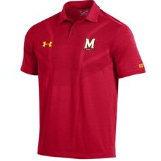 Men's Under Armour Maryland Terrapins Tour Polo, Size: Medium, Red