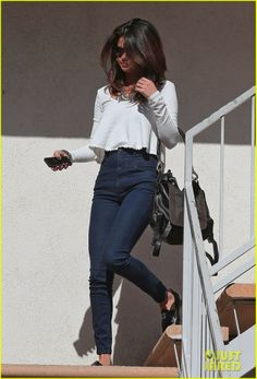 Selena Gomez heading into her car following an audition at a casting call in Los Angeles