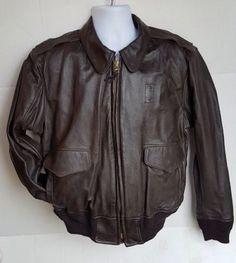80c7e0bdfee New to Jhollas on Etsy  Vintage Horace goatskin leather official Border  Patrol jacket coat sz