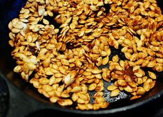 Roasted Pumpkin Seeds <3 My absolute FAVORITE in the fall