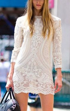 Top 10 Fashion Looks 2015 New York Outstanding Collection. Lace Dress Boots and Bag. Fashion Looks, Love Fashion, Womens Fashion, Fashion Trends, Bohemian Fashion, Fashion Vintage, Fashion Details, Fashion Models, Fashion Beauty