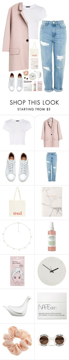 """trato de ignorarlo y me voy a rumbear."" by messyqueen ❤ liked on Polyvore featuring Topshop, Oui, Eccolo, The M Jewelers NY, Mario Badescu Skin Care, Forever 21, Holly's House, NARS Cosmetics and Wildfox"