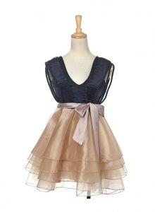 Anna-Kaci Short Mini Dress w/ Poufy Skirt