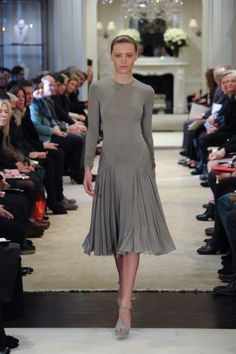 Modern nonchalance on the runway of the Ralph Lauren Pre-Fall Collection 2014 Show
