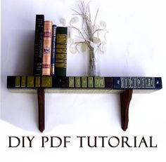 DIY bookshelf made with recycled books. It says you need to buy the tutorial, but you can definitely figure it out, i think.