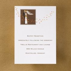 Falling Leaves - Reception Card | Busy Bride Wedding Guide