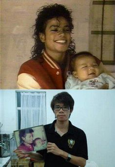 The smiling baby in MJ's arms all grown up.