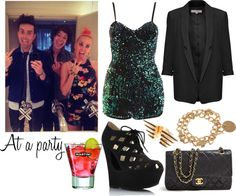 """""""At a party"""" by linusya-badoeva ❤ liked on Polyvore"""
