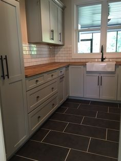 Subway Tile Backsplash Butcher Block Countertop Degraaf Interiors With  Countertops Home Design Ideas