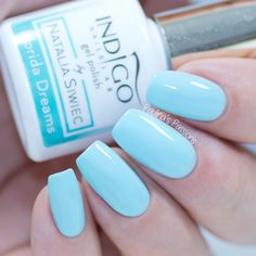 Strawberry milk is a soft pink. the formula is quite sheer, but you can build it up. here i am showing four coats plus top, but you can easily apply 2 for Dream Cream, Indigo Nails, Beach Nails, Strawberry Milk, Korn, Red Nails, Gel Nail Polish, Summer Nails, Nail Colors
