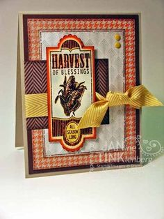 """Harvest of Thanks - Paper: Sweater Weather DSP, Sahara Sand, Tangerine Tango, Chocolate Chip, Very Vanilla - Ink: Chocolate Chip, Crushed Curry, Tangerine Tango, Soft Sky -   Other: Apothecary Accents Framelits, 7/8"""" Scallop Circle"""