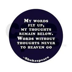 Hamlet - Shakespeare.  Favorite Shakespeare quote