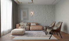 Dans ses teintes claires et neutres, le tadelakt est un revêtement sobre qui se marie harmonieusement aux intérieurs minimalistes et aux couleurs pastel des assises de salon. Tadelakt, Decoration, Entryway Bench, Lounge, Couch, Slow, Design, Furniture, Home Decor