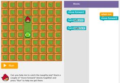 """Computer Programming Basics: An Hour of Code"": Playful and puzzling modules available as part of the Hour of Code initiative get kids started with programming basics. Continue the learning with Science Buddies Project Ideas in #computer #science. [Source: Science Buddies, http://www.sciencebuddies.org/blog/2014/09/computer-programming-basics-an-hour-of-code.php?from=Pinterest] #STEM #scienceproject #scratch #hourofcode #compsci"