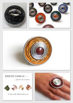 Diy And Crafts, Arts And Crafts, Coffee Pods, Nespresso Pads, Class Ring, Etsy, Homemade, Rings, Jewelry
