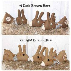 Folk Art Bunny Rabbit Hare Ornie Bowl Filler by SheCollectsICreate