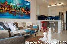 Masteri Thao Dien apartment for rent with 1bedroom, furnished, 50sqm and nice view