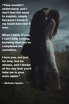 Love / Nicholas Sparks quote