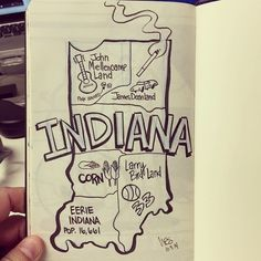Wes Molebash | CartoonistThe Molebash clan is going to Indiana this weekend to visit some friends, so I thought I'd draw a meticulously accurate map of the Hoosier State. #inktober #illustration #cartography