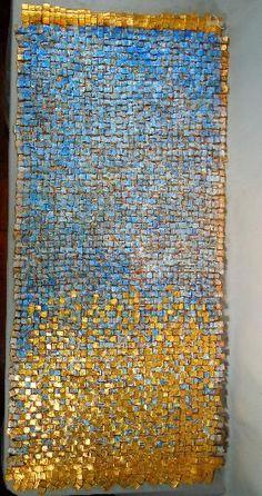 Olga de Amaral - Cesta Lunar 6, 1988 - silk, gold leaf, paint