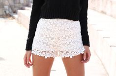 lace shorts, cute <3