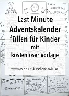 Last minute advent calendar for children - time instead of time .- Advent calendars for children fill with vouchers – with a free template Advent Calendars For Kids, Diy Advent Calendar, Kids Calendar, Diy Gifts For Christmas, Christmas Time, Xmas, Presents For Kids, Halloween Party, Diy And Crafts