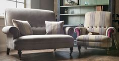 A versatile sofa and chair that sports a high back with hand stitched detail and a fixed seat that would sit as happily in a farm kitchen as a Spitalfields town house. Partridge welcomes you home, ca Furniture, Farm Kitchen, Love Seat, Sofa, Sofas And Chairs, Chair, 2 Seater Sofa, Chaise Lounge, Versatile Sofa
