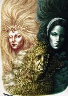 Miaden, Mother and Crone... The Triple Goddess.