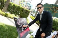 """Shades of Thomas!! OOOOLaLa May 3, 2014 - Robert James-Collier at An Afternoon with """"Downton Abbey"""" in LA."""