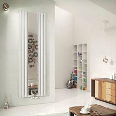 Ximax Fortuna Mirror Vertical Radiator White, (H)1800 mm (W)590 mm   Departments   DIY at B&Q