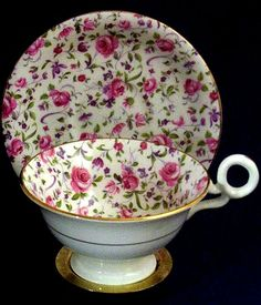 Image detail for -Charming Chintz! Radfords Bone China Pink Rosebud Teacup Set from ...