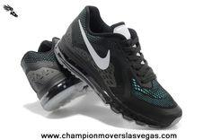 free shipping 2c746 4e0be Nike Air Max 2014 Mens Shoes Black White Blue fdGa4 Cheap Nike Air Max, Nike
