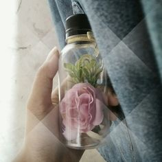 Flowers in a bottle