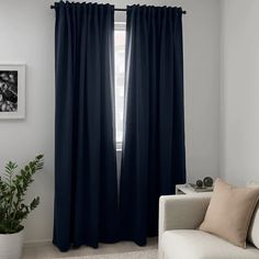 MAJGULL blackout curtains, 1 pair - dark blue - IKEA When it comes to bedroom