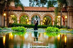 Top San Diego Wedding Photography engagement shoot at the reflection pond in Balboa Park