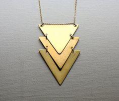 Kinetic Brass Chevron Necklace  www.worksofbeauty.com