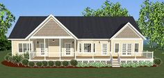 Plan 6123 is 2233 square feet and has 4 bedrooms and 2 1/2 bath