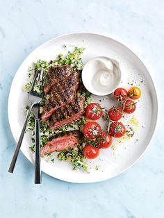 Grilled Sumac Lamb With Couscous Tabouli | Donna Hay