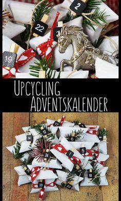 Upcycling Adventskalender - süße Idee aus Klopapierrollen