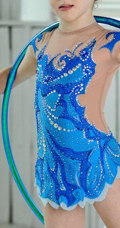 Beautiful designer rhythmic gymnastics leotard ice skating