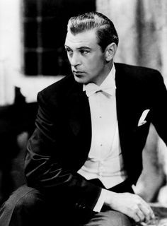 Somehow Gary Cooper appeared as comfortable in a tuxedo as he did in leather and spurs. Two 'sophisticated' examples are Deign for Living, 1933 with Miriam Hopkins and Bluebeard's Eighth Wife, 1938 with Claudette Colbert.