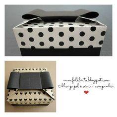 Caixinha Chanel - Falk Brito - Adaptada de Tomoko Fuse. Box Origami, Crafts To Do, Cubes, Wrapping, Container, Wraps, Boxes, Paper, Rolls
