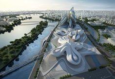 Changsha Meixihu International Culture and Art Centre by Zaha Hadid