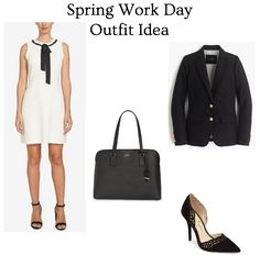 Spring work day chic! This dress and blazer are must-haves!